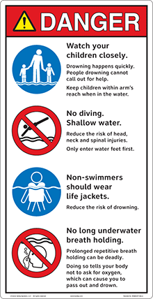 Clarion Pool Safety Sign System
