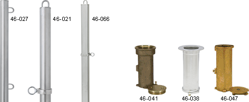 Support Posts For Backstroke Flags
